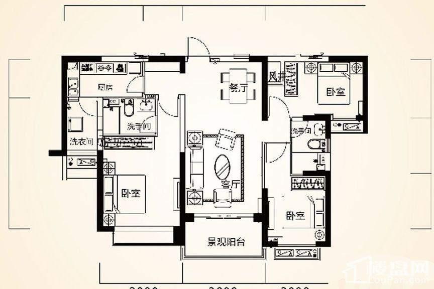 9#2户型(4-32层)
