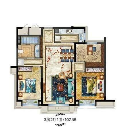 丽景·中央城户型图