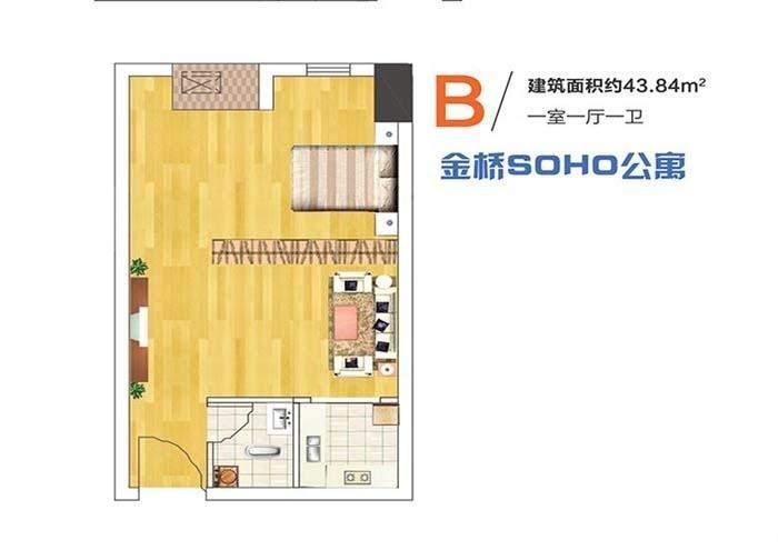 金桥国际 SOHO公寓B户型