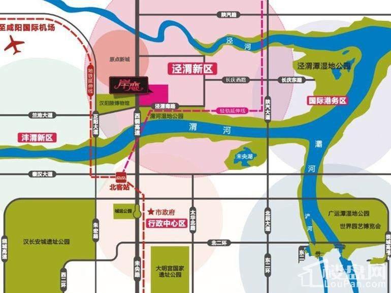 雍河院·岸恋位置图
