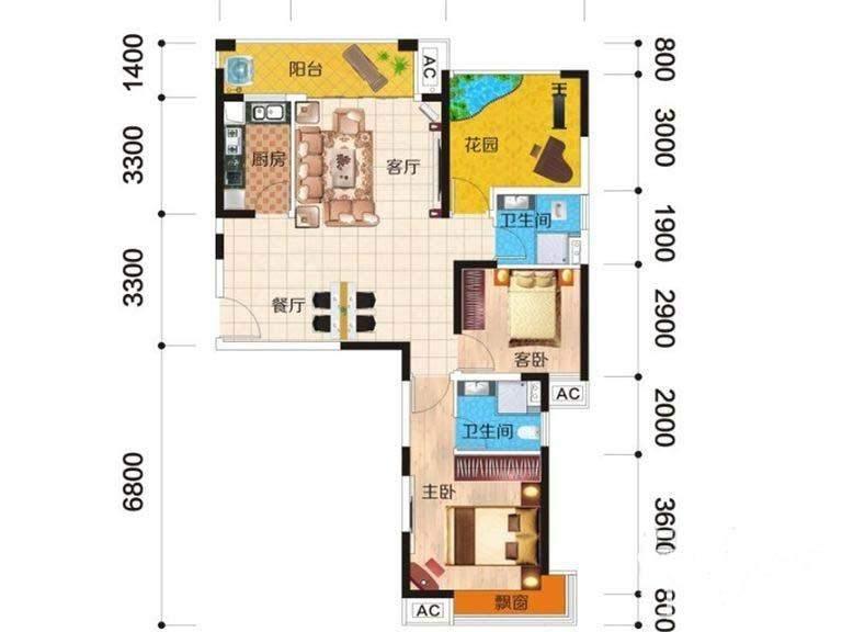 富基世纪公园 三期46、47、48号栋户型