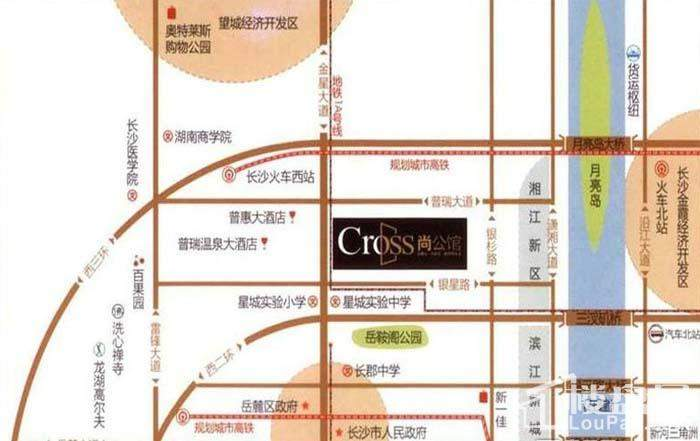 Cross尚公馆 位置图