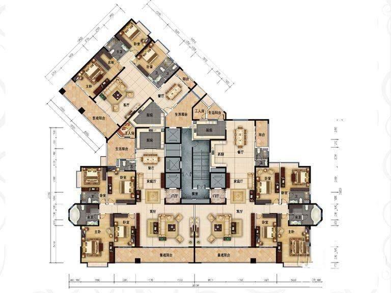 长沙碧桂园天玺湾4室3厅4卫户型图