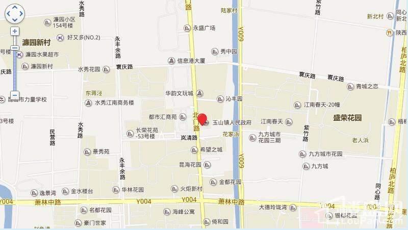 昆山长顺滨江皇冠位置图