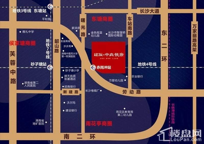 建发中央悦府位置图