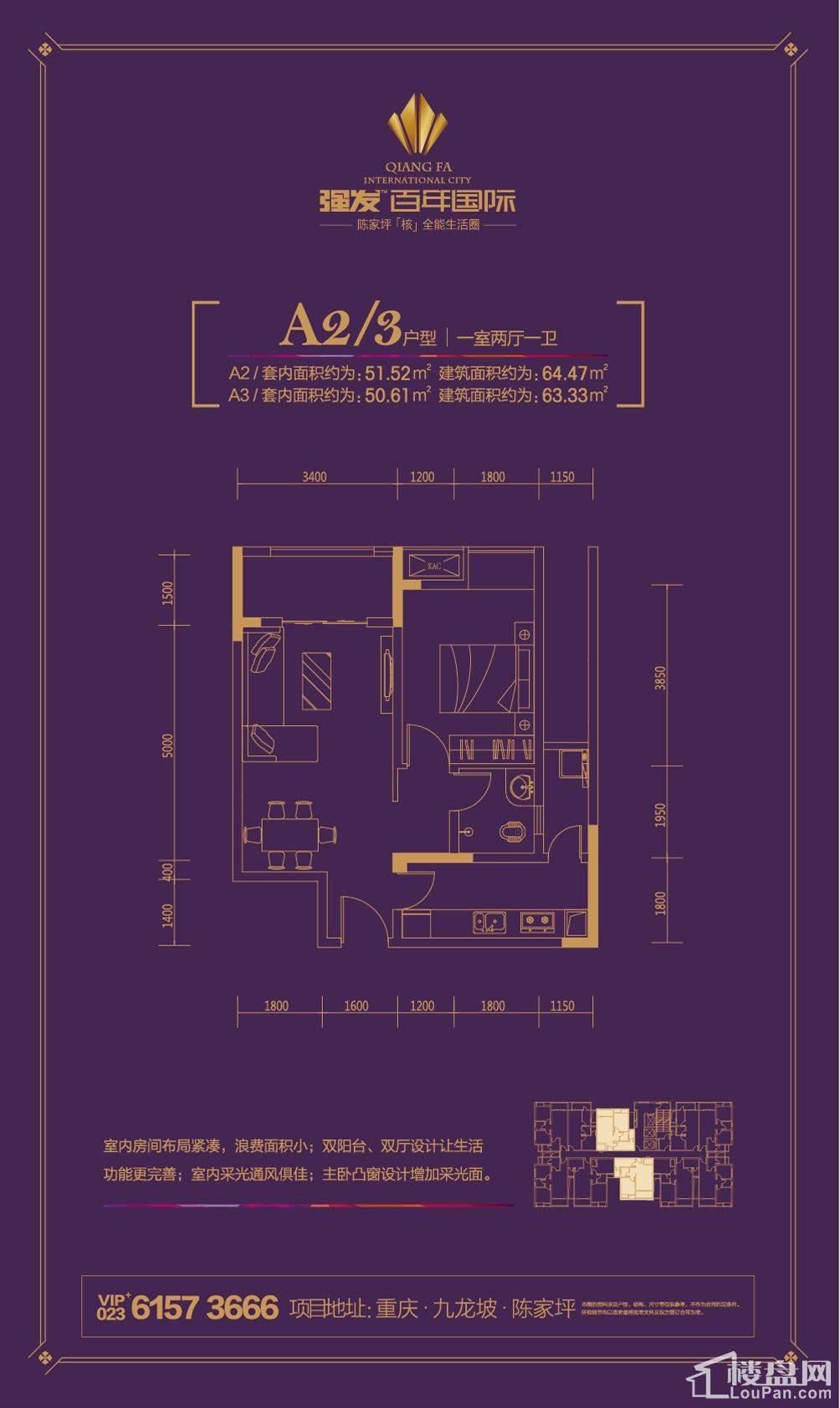 强发百年国际A2/3户型