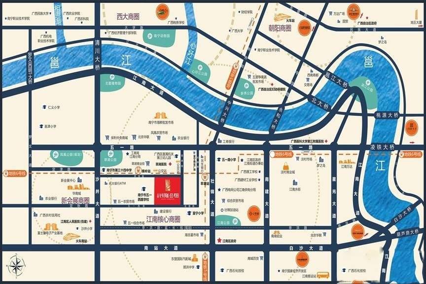 云星钱隆公馆位置图