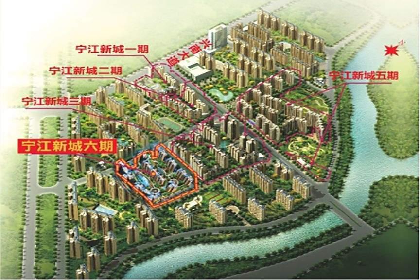 宁江新城配套图