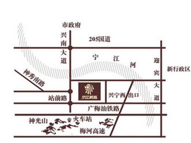 宁江新城六期【君和盛世】位置图