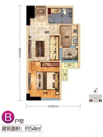 宝利丰广场2#爱情公寓B户型