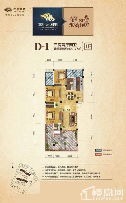 2号/5号/7号/9号楼1层D-1户型
