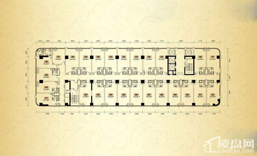奥克斯缔壹城 2号栋公寓平层图