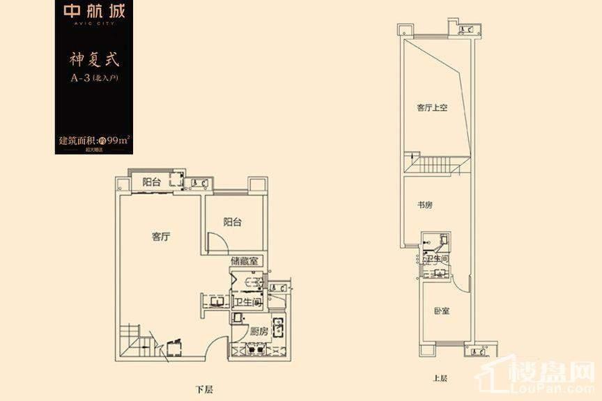 中航城国际社区1-3号栋A-3户型