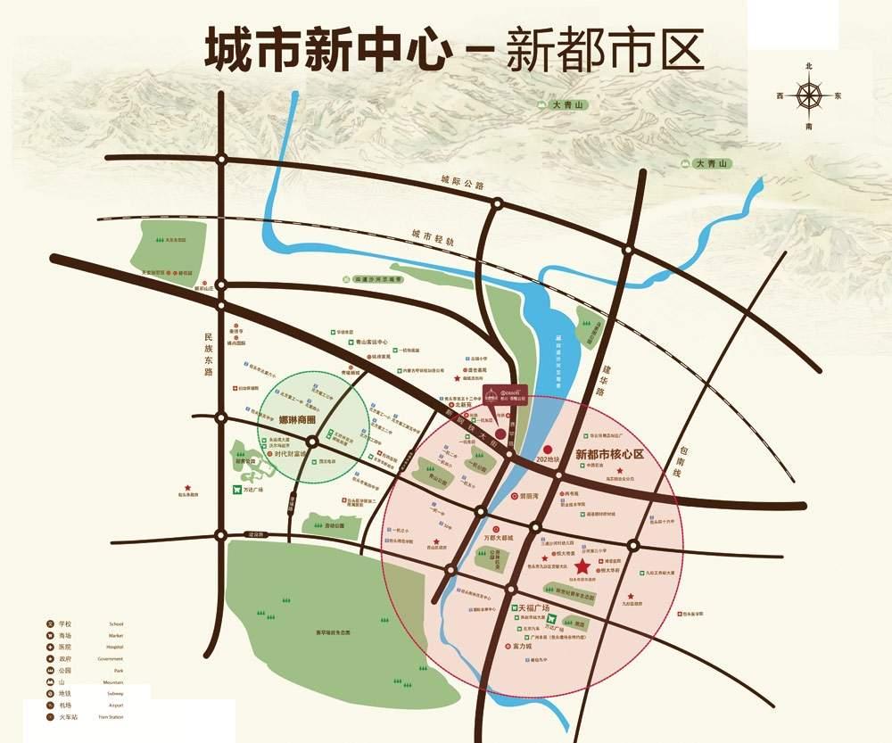 松石国际城位置图