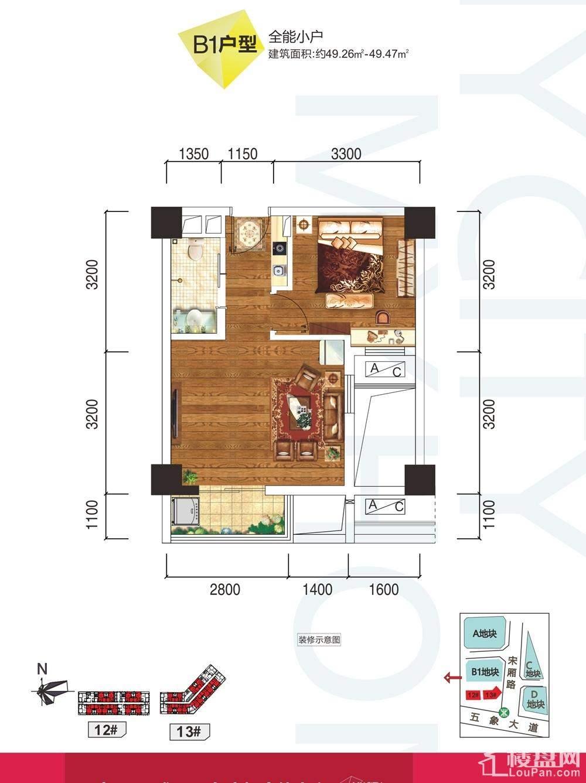云星钱隆首府公寓12#/13#B1户型