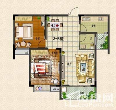 户型图 3#楼B户型