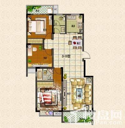 户型图 3#楼D户型