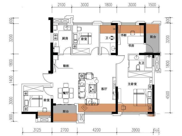 天元涉外景园 C8栋-03户型