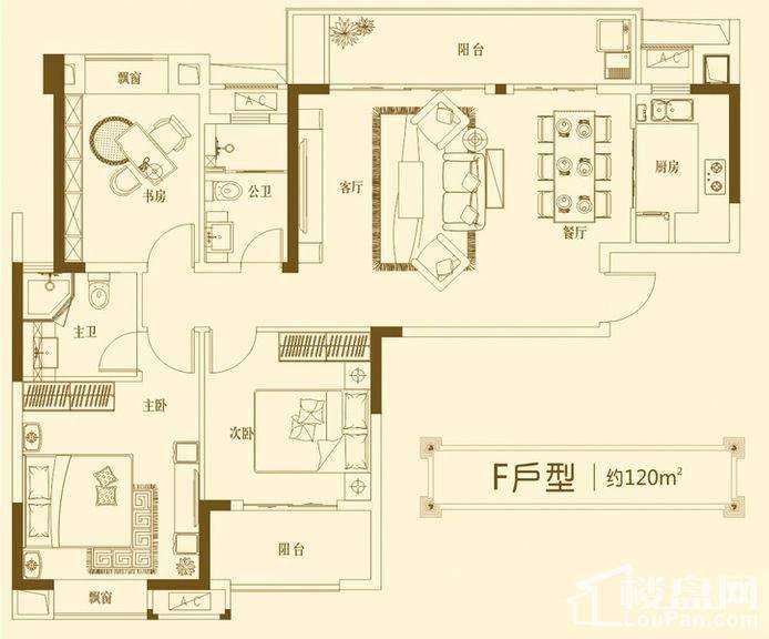 建发中央悦府 F户型