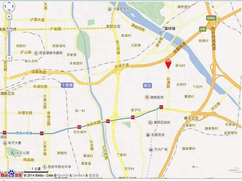 高科绿水东城位置图