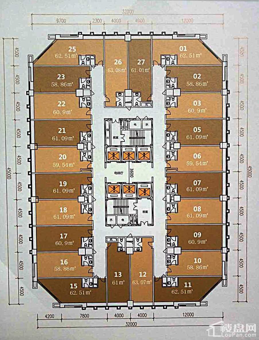 防城港翡翠国际户型平面图