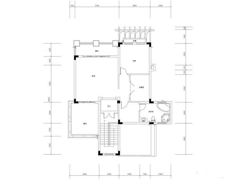 金色溪泉湾E1栋-E5栋B1户型三层