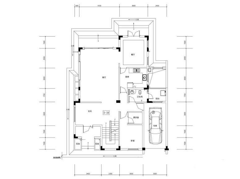金色溪泉湾E1栋-E5栋B1户型一层