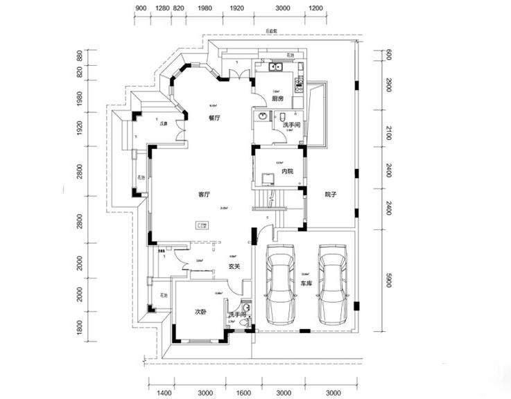 金色溪泉湾E9栋-C1次户型一层