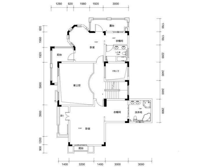 金色溪泉湾E9栋-C1户型二层