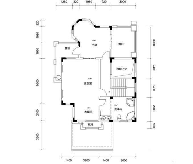 金色溪泉湾E9栋-C1户型三层