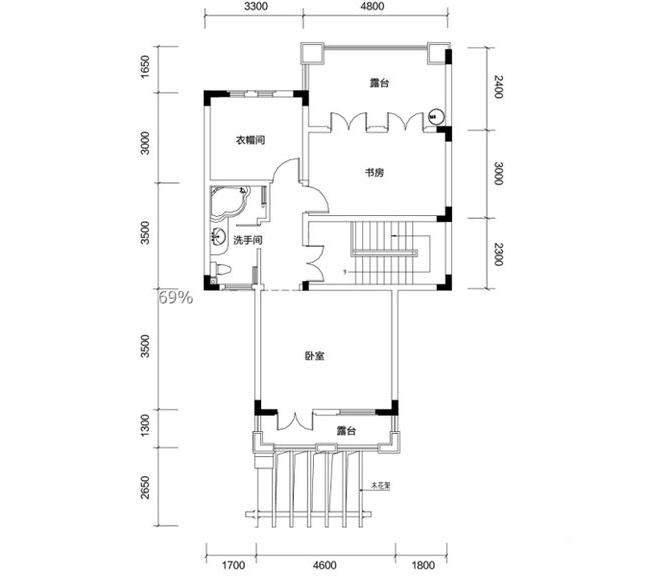 金色溪泉湾 E9栋-C3b次户型三层