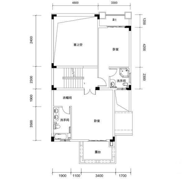 金色溪泉湾 E9栋-C3c次户型二层