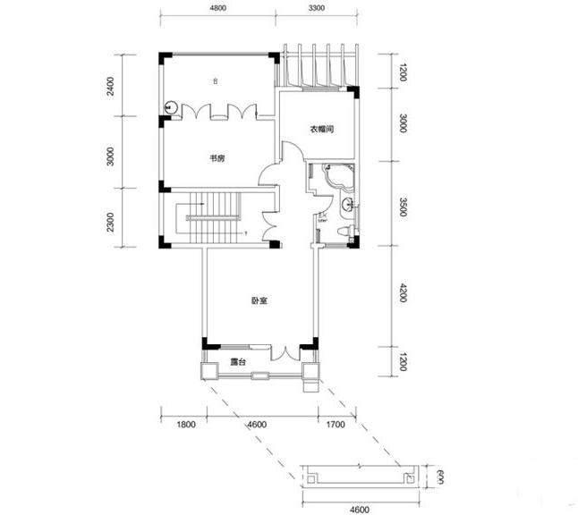 金色溪泉湾 E9栋-C3c次户型三层