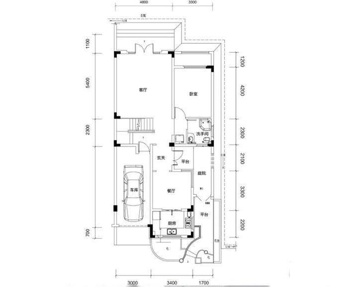 金色溪泉湾 E9栋-C3c次户型一层