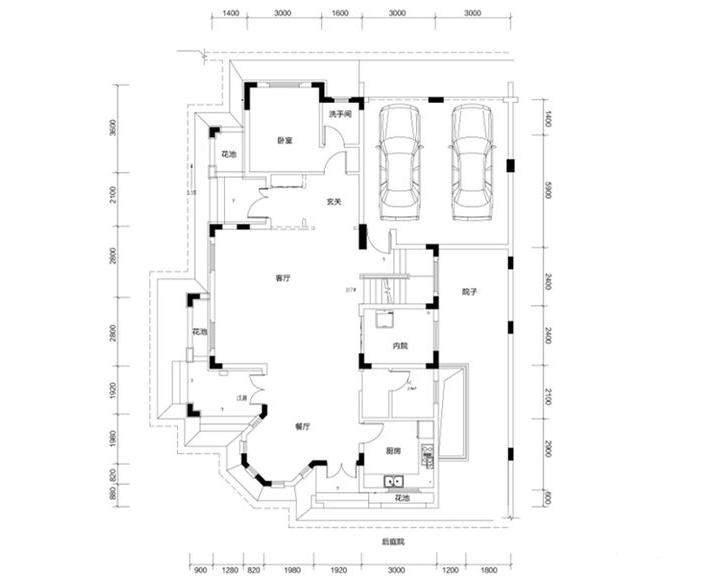 金色溪泉湾 E12栋-C1次户型一层