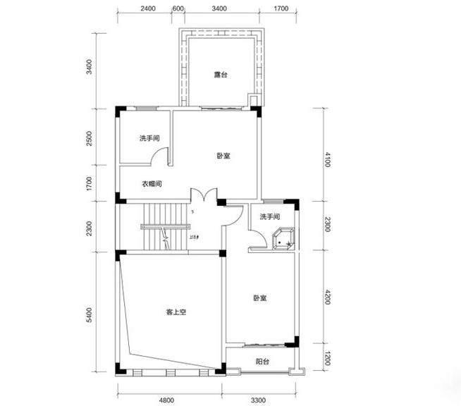 金色溪泉湾 E12栋-C2a户型二层