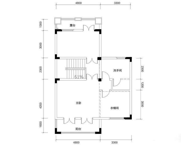 金色溪泉湾 E12栋-C2a户型三层