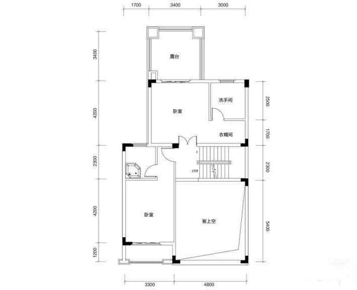 金色溪泉湾 E12栋-C2b户型二层