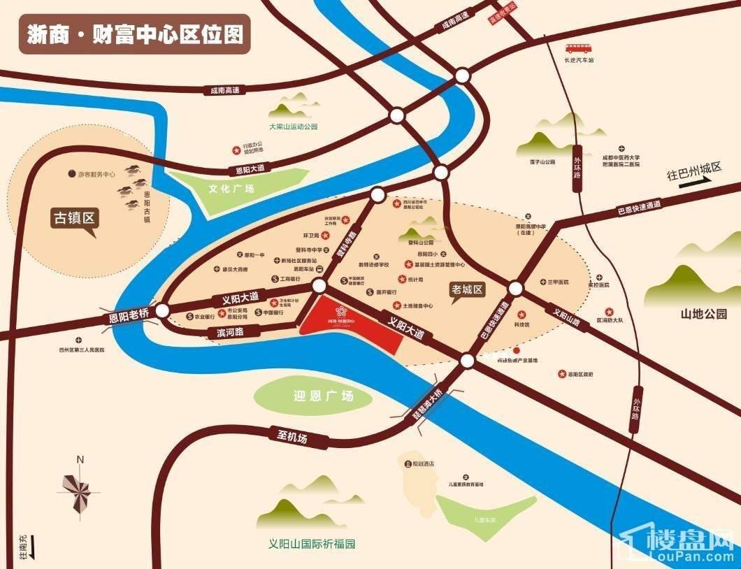 浙商·财富中心位置图