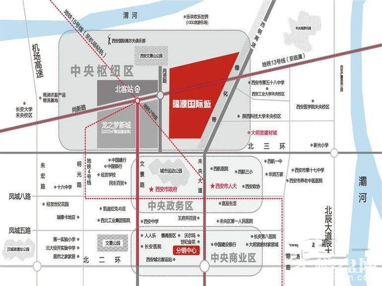 隆源国际城位置图