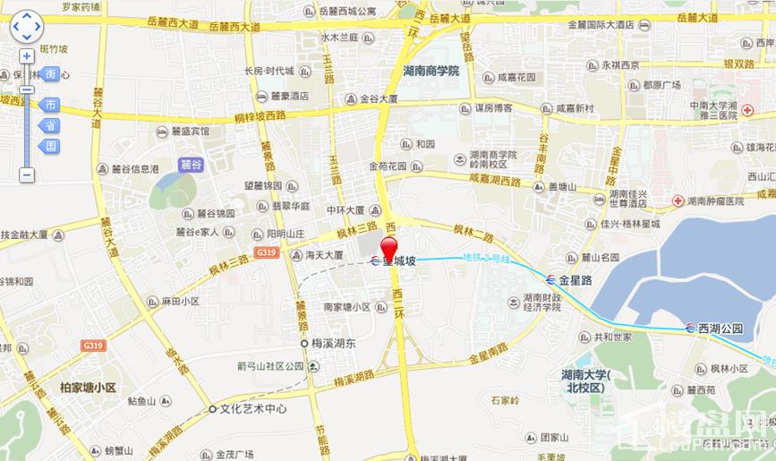 长沙西中心区位交通图