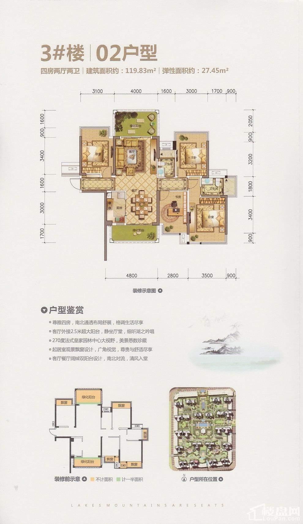 龙光玖珑湖3号楼02户型