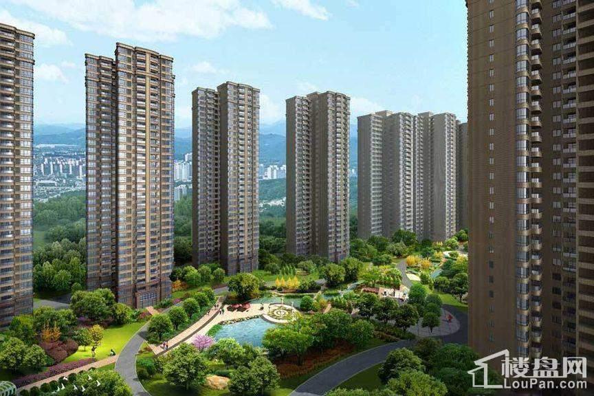 三润城住宅内庭院景观