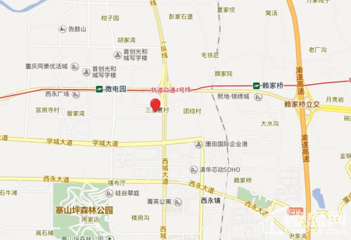 重庆万达城位置图