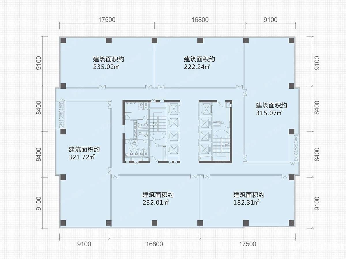 中部智谷 8号栋写字楼户型