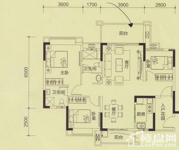 恒展·江山时代花园户型图