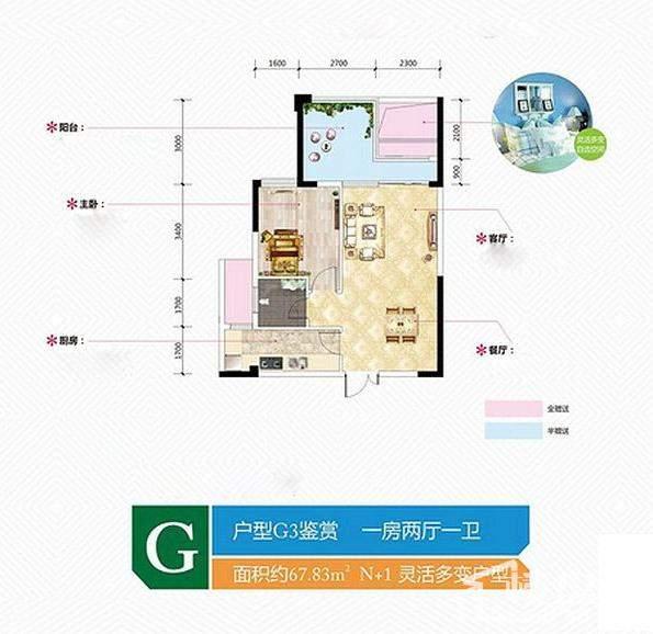 金谷豪庭G3户型