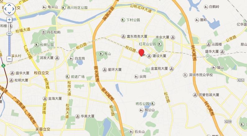 天汇城(一期、二期)位置图