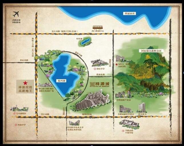 祥源城湖山小筑位置图