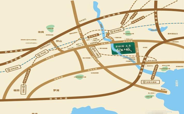 碧桂园太东公园上城位置图